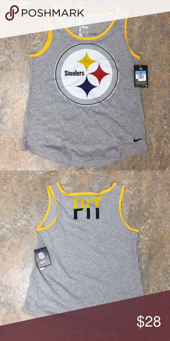 b5e033ed6 Pittsburgh Steelers Nike Women s Tank Top Medium Brand new with tags  officially licensed Pittsburgh Steelers Nike Women s Tri Blend Tank Top  Shirt Size ...
