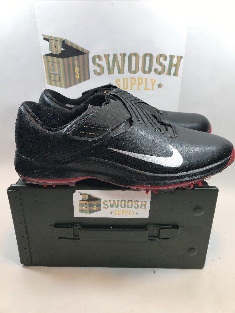 ee1de7dc2aaccd Nike Men s Tiger Woods TW  17 Golf 880955-001 Black Metallic Silver Sz 12