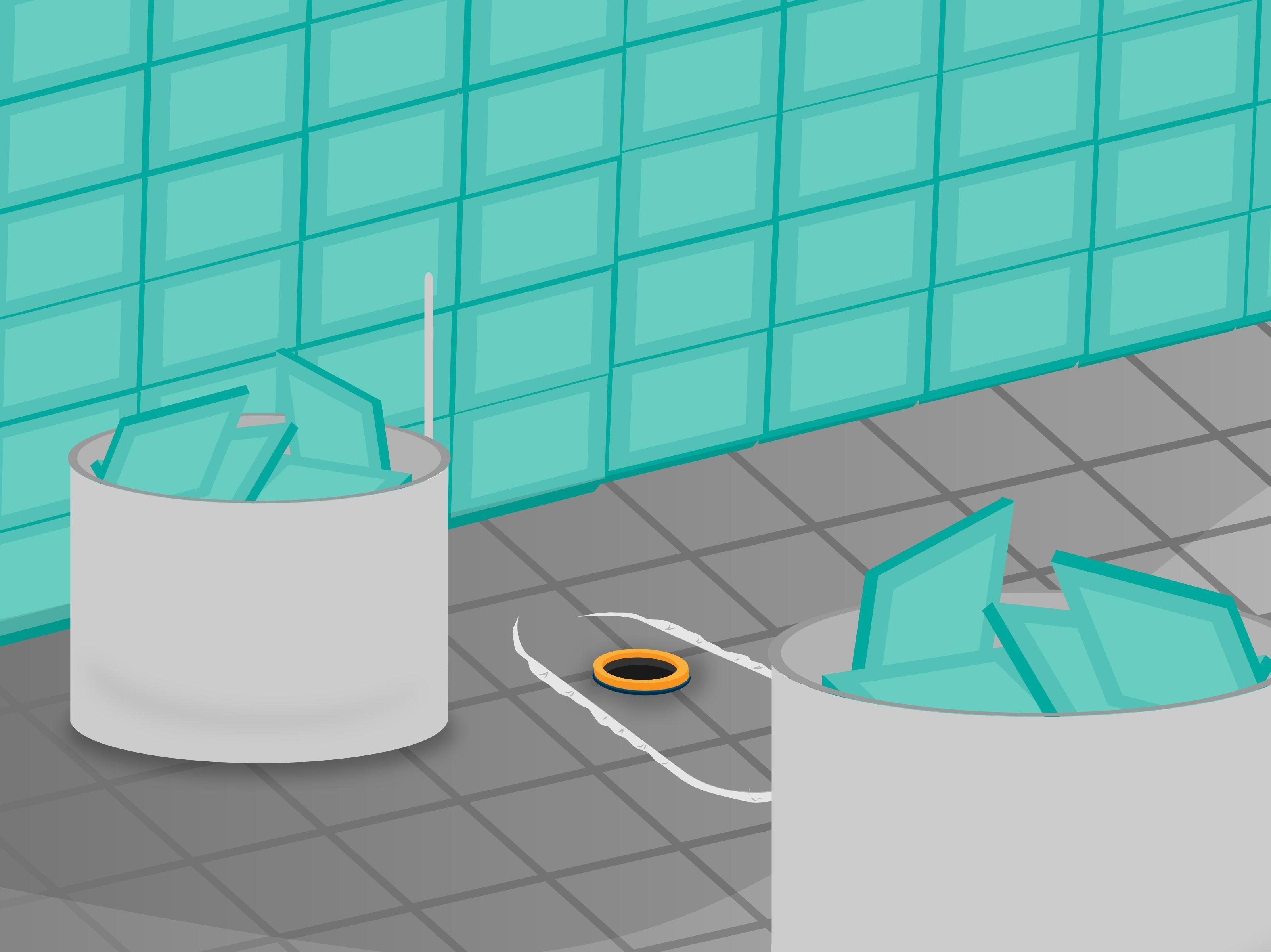 How to remove bathroom tile via tile