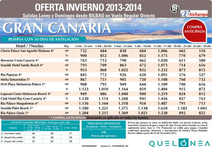 Oferta Enero - Abril Gran Canaria 7 noches desde 510€ Tax incl.Salidas desde Bilbao con UX ultimo minuto - http://zocotours.com/oferta-enero-abril-gran-canaria-7-noches-desde-510e-tax-incl-salidas-desde-bilbao-con-ux-ultimo-minuto/