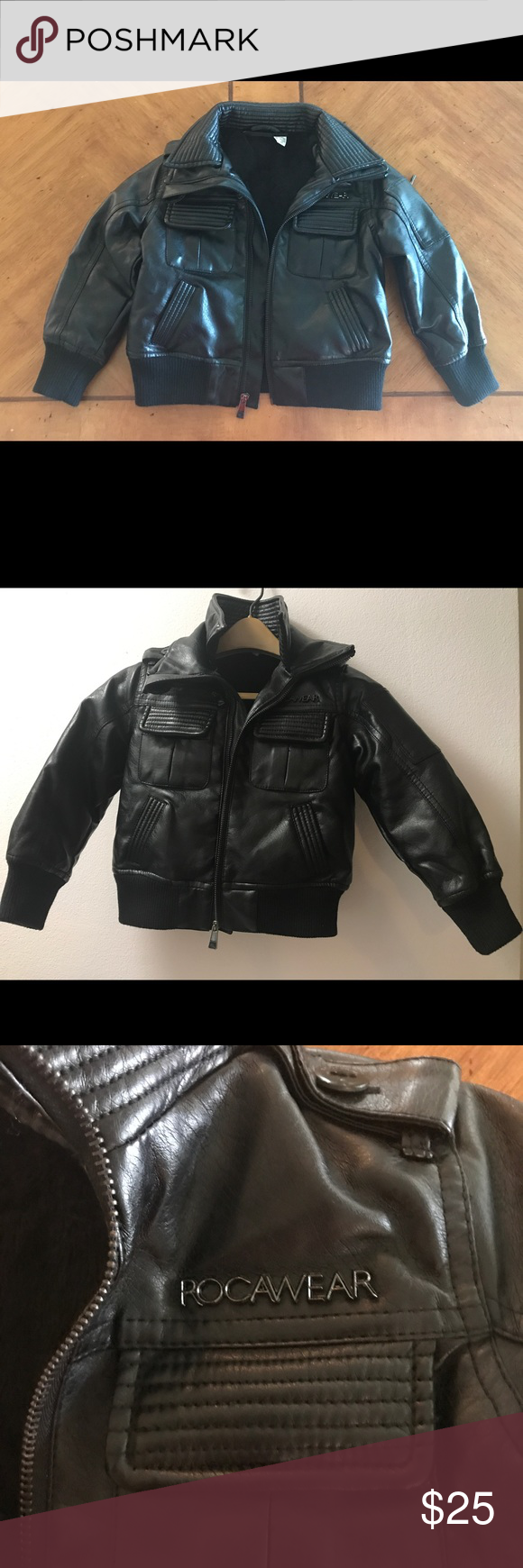 Rocawear Faux Leather Bomber Jacket For Toddler Faux Leather Bomber Jacket Rocawear Jackets [ 1740 x 580 Pixel ]