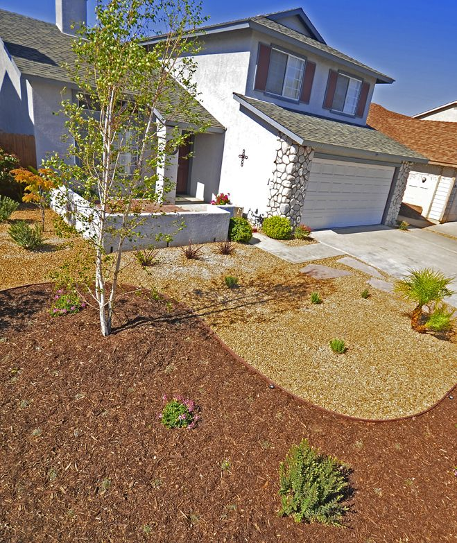 Drought Tolerant Front Yard: Elegant Curves Draw The Eye To This Xeriscape Landscape In