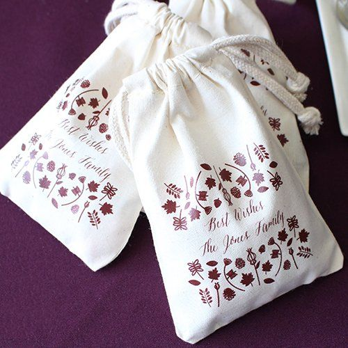 Personalized Natural Cotton Party Favor Bag by Beau-coup
