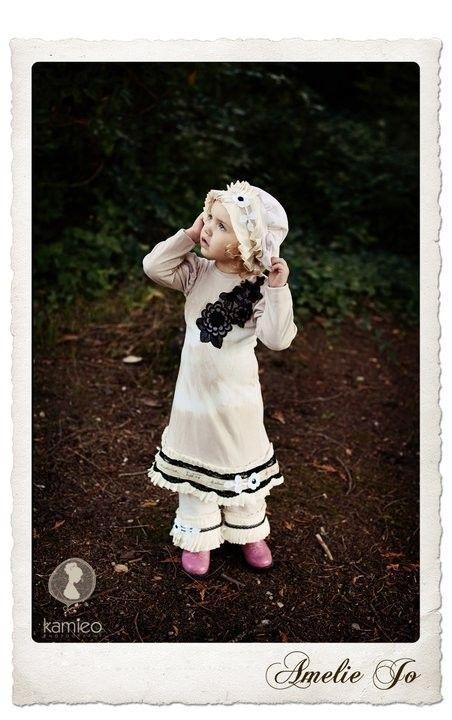 Girls Little Miss Vintage Inspired Dress