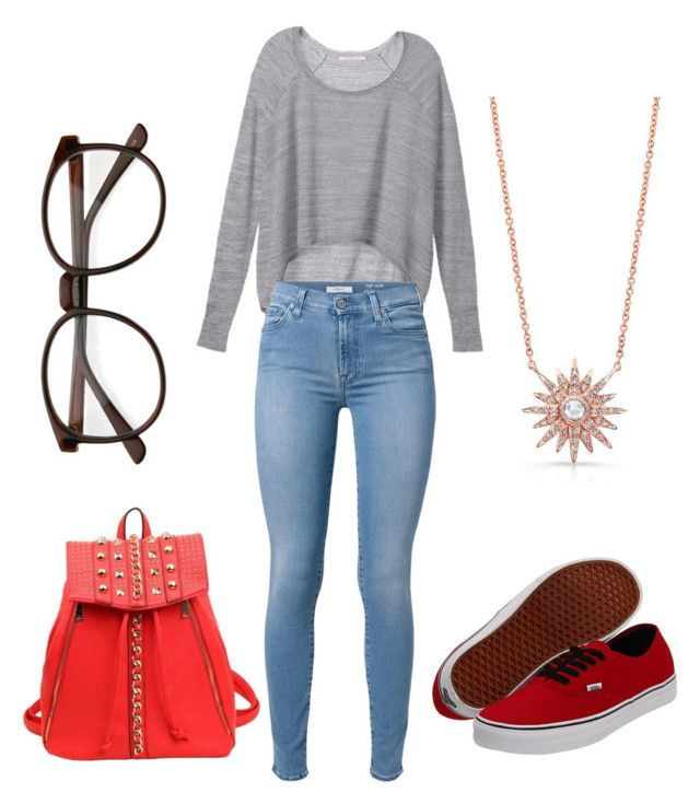 """""""Untitled #37"""" by maisaherazo on Polyvore featuring Victoria's Secret, 7 For All Mankind and Vans"""