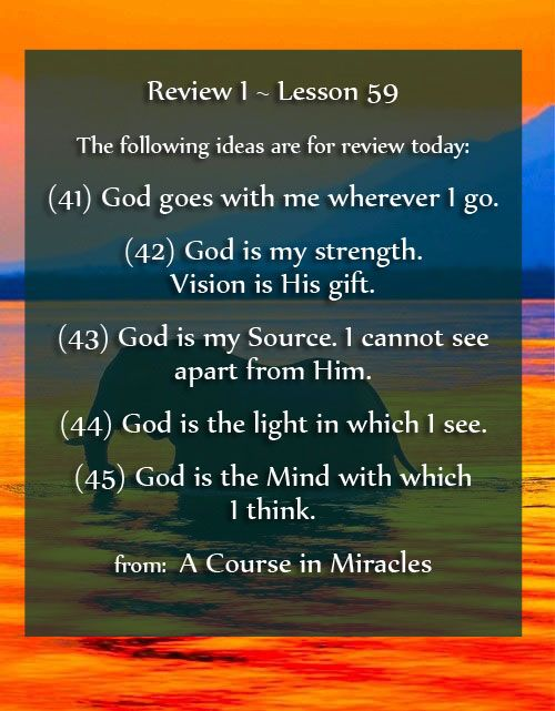 A Course In Miracles Lesson 59 Acim Https Www Facebook Com