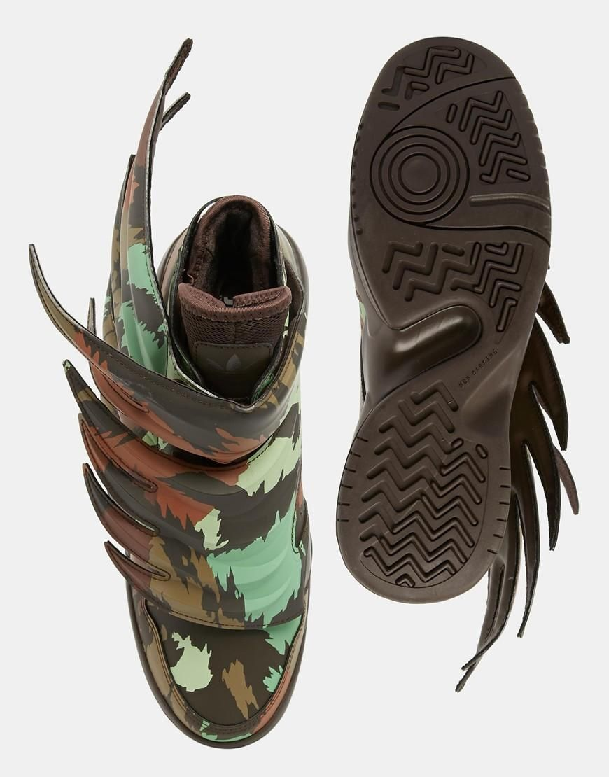 detailed look 2bf2a bc6ac Adidas Originals by Jeremy Scott Wings 3.0 Sauvage Sneakers