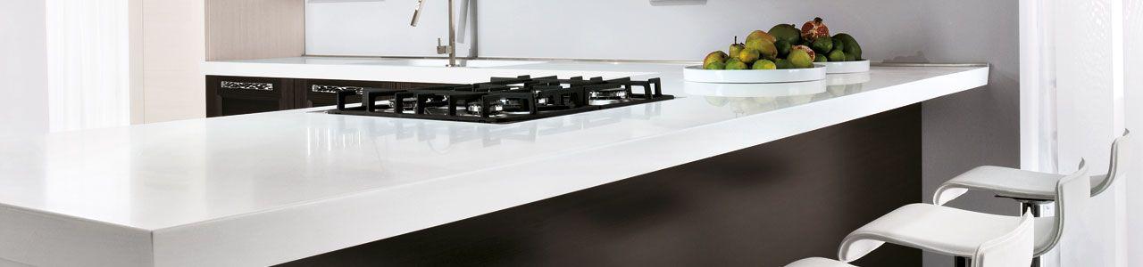 Piano cucina in okite 1665 bianco assoluto kitchen - Okite piano cucina ...
