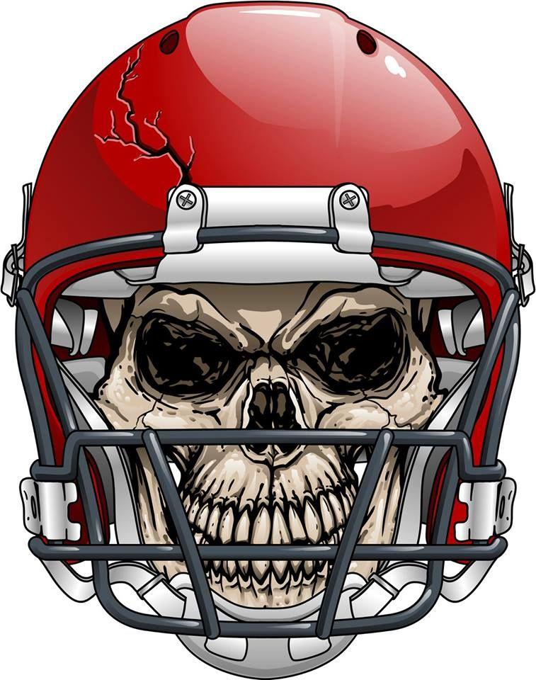 Skull KdS! Football helmets, Fantasy football logos