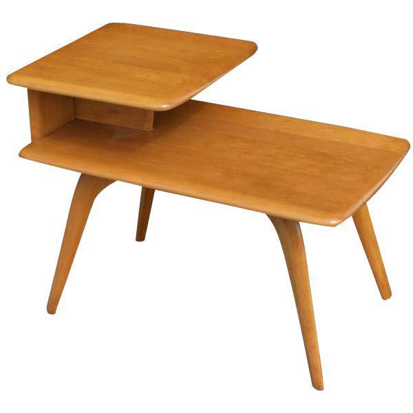 vintage heywood wakefield side step end table in 2018 products rh pinterest com au heywood wakefield surfboard coffee table heywood wakefield surfboard coffee table