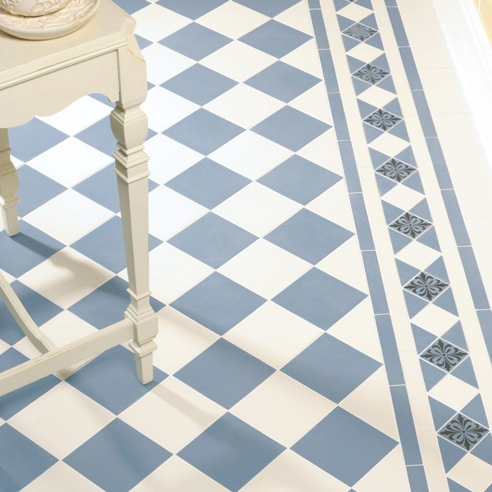 Gallery floor tile patterns tile patterns and victorian dorchester victorian floor tile pattern with modified kingsley border incorporating cardigan decorated tile black on blue dailygadgetfo Images