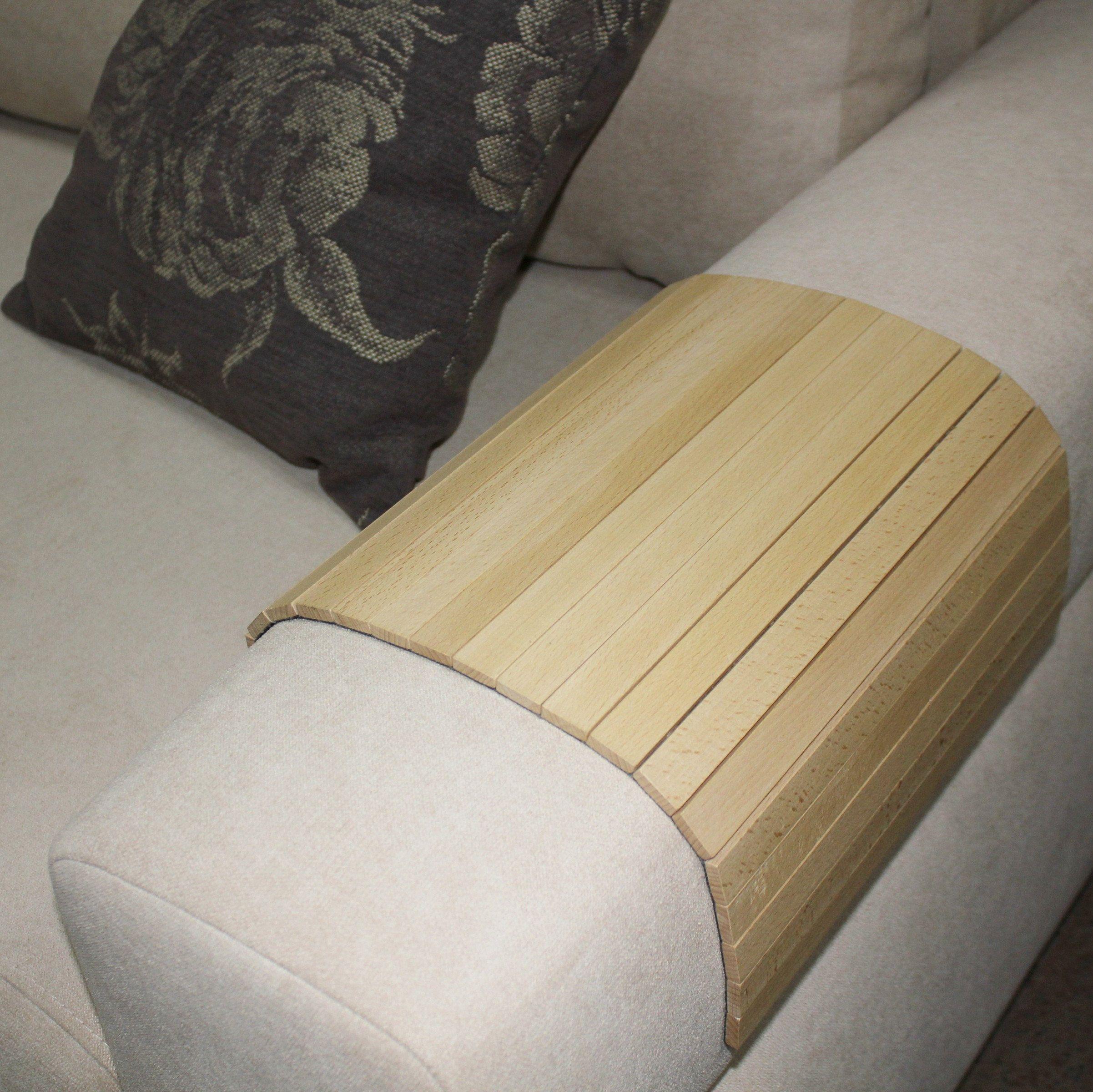 Sofa Tray Table Sofa Arm Tray Armrest Tray Sofa Arm Table Couch Tray Coffee Table Flexible Tray Adjustable Tray Flexible Wooden Tea Tray Ash Sofa Arm Table Couch Tray White Wood