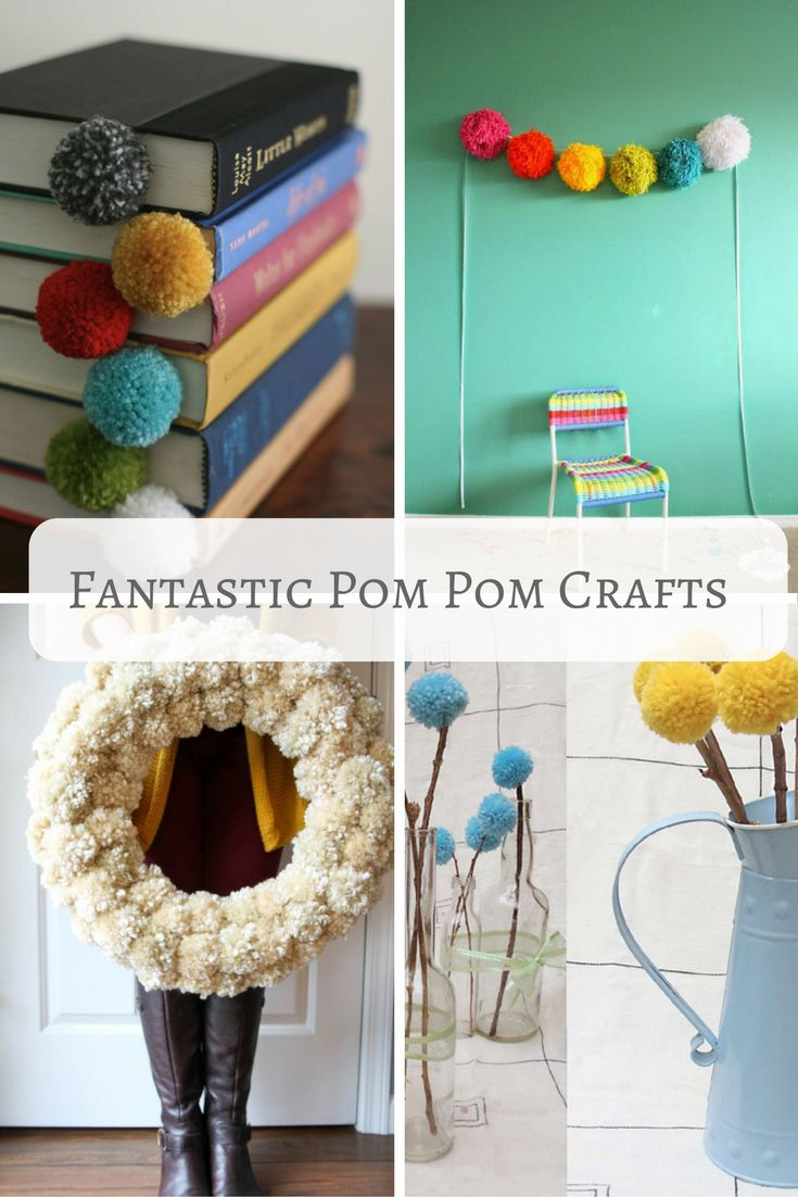 Who doesn't love a pom pom ? Here is a roundup of some fantastic pom pom crafts.