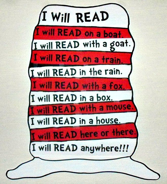 Dr. Seuss will READ anywhere!!!
