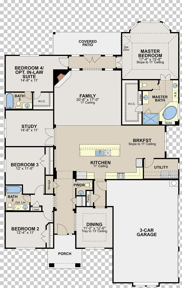 Floor Plan Manor House Saratoga Hills By Ryland Homes House Plan PNG Free Download