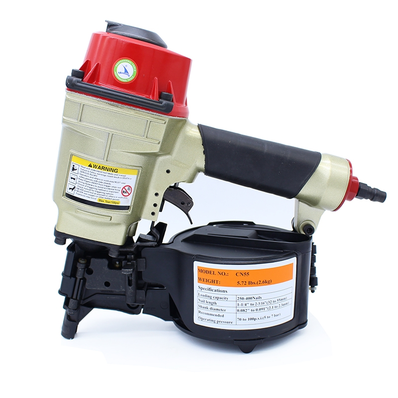 157.23$  Watch here - http://aliuub.worldwells.pw/go.php?t=1925212786 - High Quality CN55 Industrial Pneumatic Coil Nailer Roofing Air Nail Gun Tool 157.23$