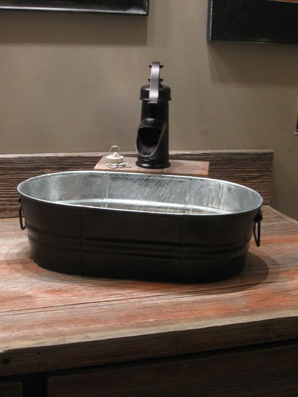 Our New Sinks And Faucets Wash Tubs From Tractor Supply Farmhouse Bathroom Sink Wash Tub Sink Wash Tubs