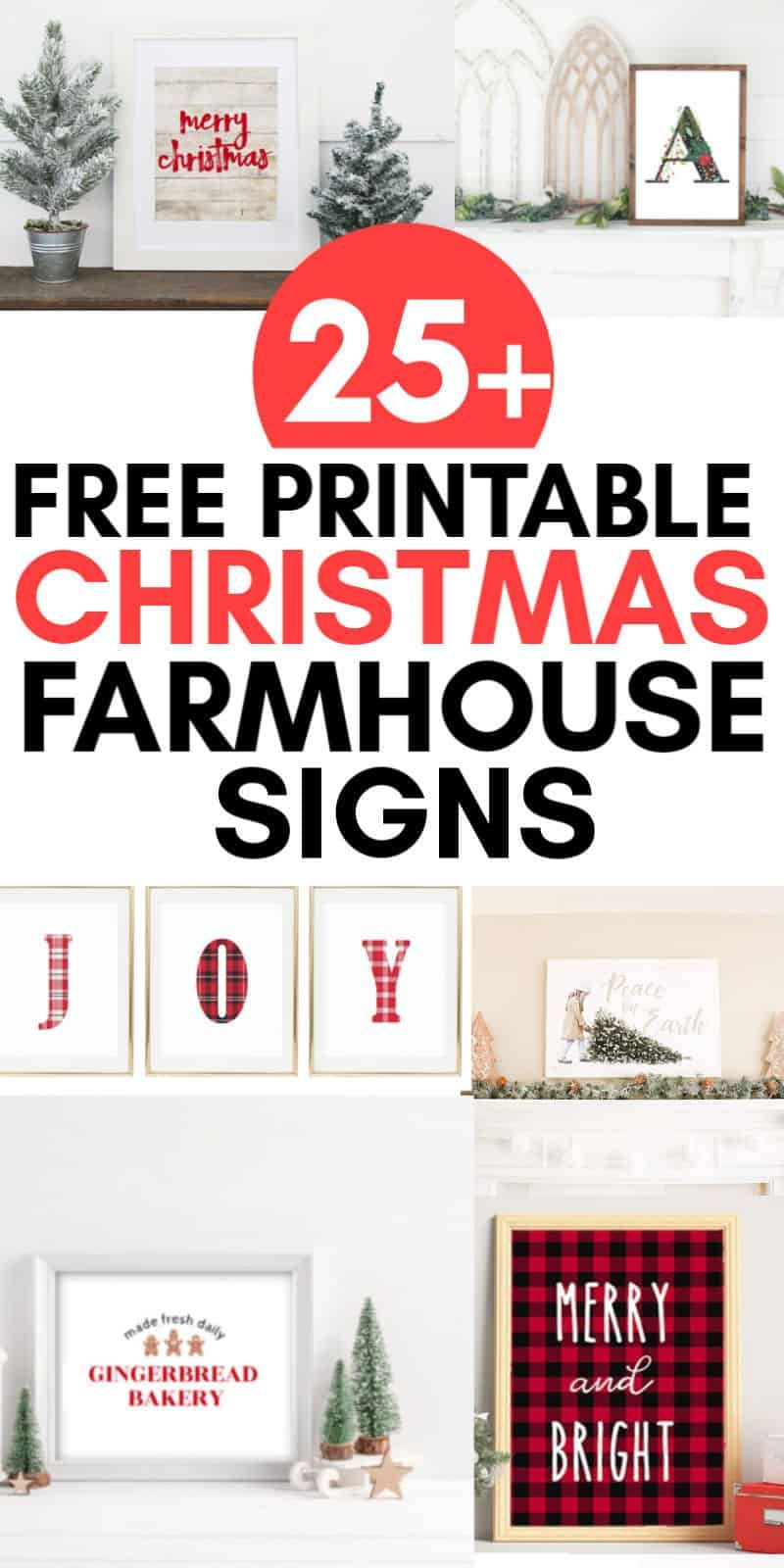 Free Printable Farmhouse Signs : printable, farmhouse, signs, Printable, Farmhouse, Christmas, Signs, (Merry, Printables), Seaside, Sundays, Signs,, Merry, Printable,