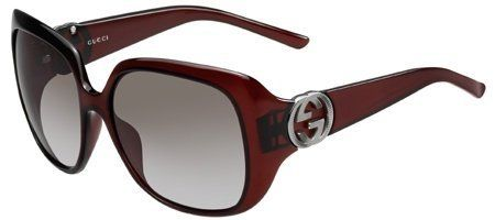 d9db7e4f713d Gucci Women s 3163 Bordeaux Frame Grey Lens Plastic Sunglasses Gucci.   180.00
