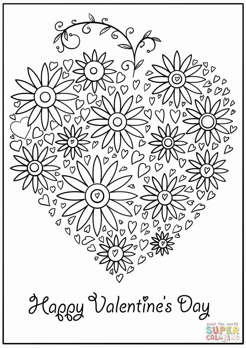 Valentinstag Malkarten druckbare inspirierende Valentinstag