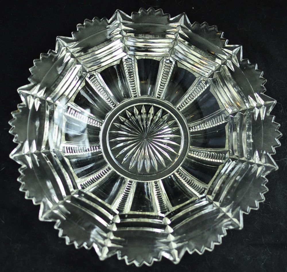 Antique Zipper Slash Dish Early American Pressed Glass George Duncan & Sons #GeorgeDuncanSons