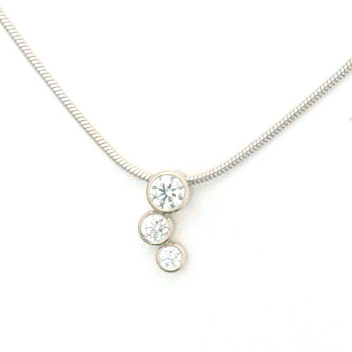 Bespoke 18ct white gold triple diamond necklace handmade by form bespoke 18ct white gold triple diamond necklace handmade by form bespoke jewellers formjewellery aloadofball Choice Image