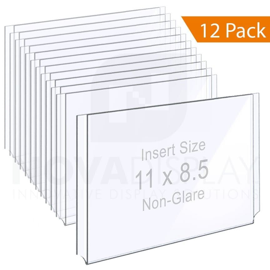 Non Glare Acrylic Easy Access Info Poster Holder Letter Format 12 Pcs Clear Acrylic Framed Letters Display Lettering