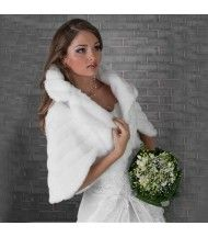 Wedding Faux Fur Milky Bridal Shawl Wrap Stole Shrug Bolero Cape Size S-xl 10297856987
