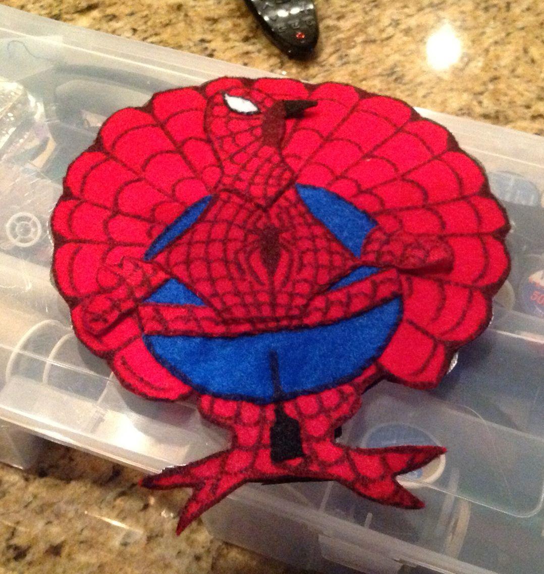 Spider Man Turkey Disguise Thanksgiving Kids Projects Turkey