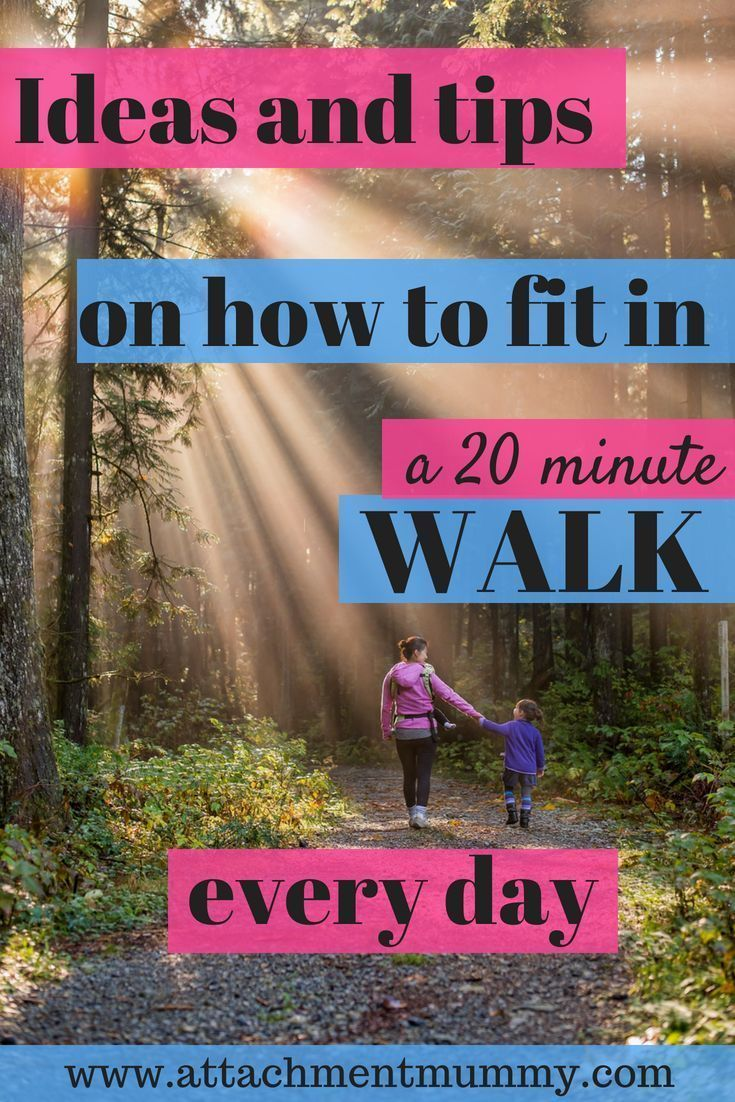 How to Fit a 20 Minute Walk Into Your Day #walking #fitness #exercise #health #walktofitness #walkin...