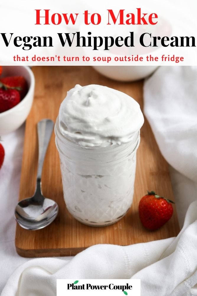 How to Make Vegan Whipped Cream by Plant Power Cou
