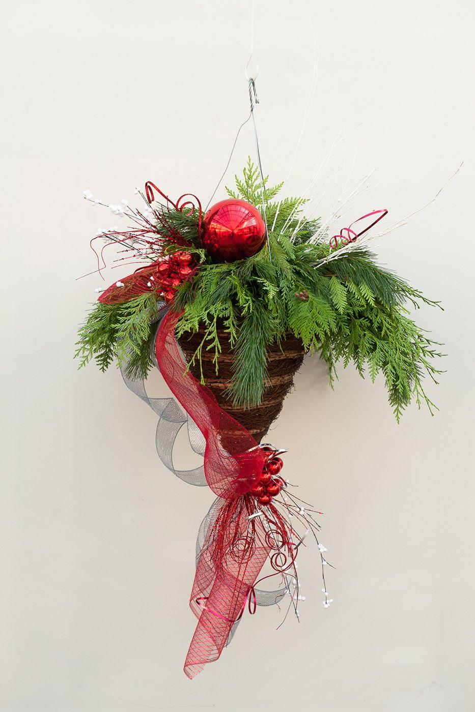 Winter Hanging Basket from Hole's Greenhouse Edmonton St
