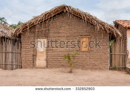 Typical mud house of the poor regions of the countryside for Mud brick kit homes