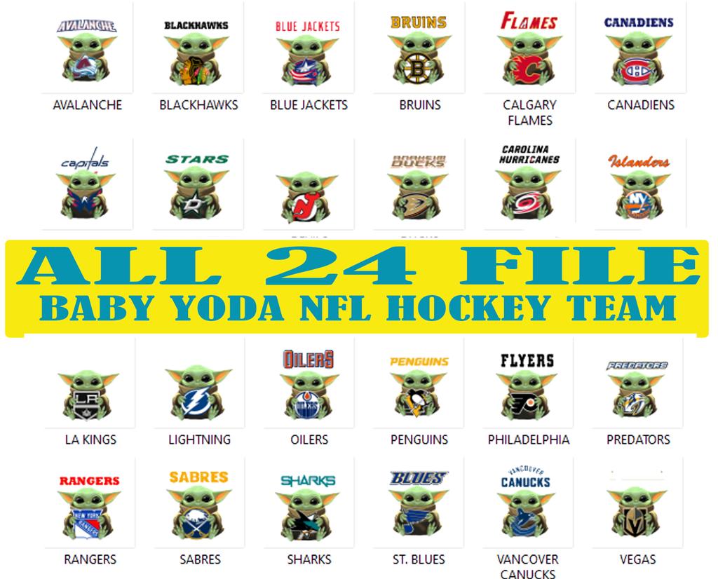 Baby Yoda Star Wars 24 Nhl Hockey Teams Baby Yoda Star Wars Png Baby Yoda Png Nfl Football Files For Silhouette Instant Download Star Wars Yoda Yoda Star Wars Memes