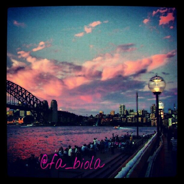 Sunset on Sidney Harbor Bridge Australia 2009/2010
