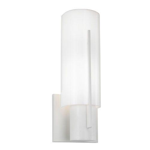 Oberon Satin White One-Light Wall Sconce