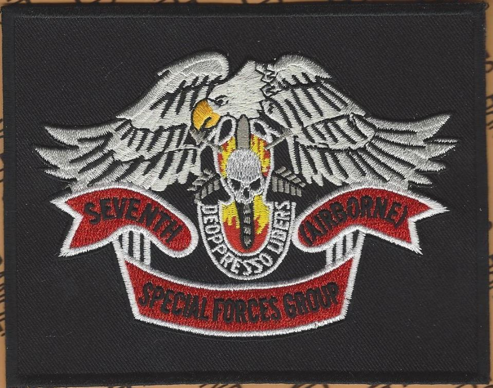 US Army 7th Special Forces Group Airborne SFGA ODA 5.5 inch pocket patch