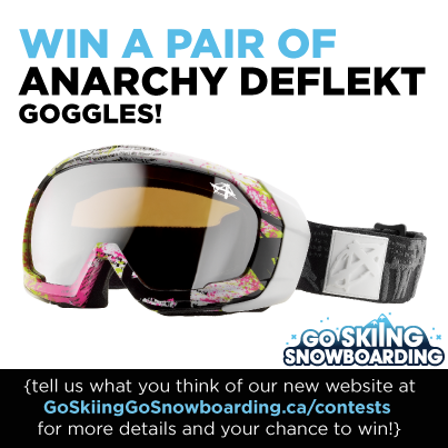 Contest is open until Jan 21st to Canadian residents only, one entry per person please see goskiinggosnowboarding.ca/contests for more information.