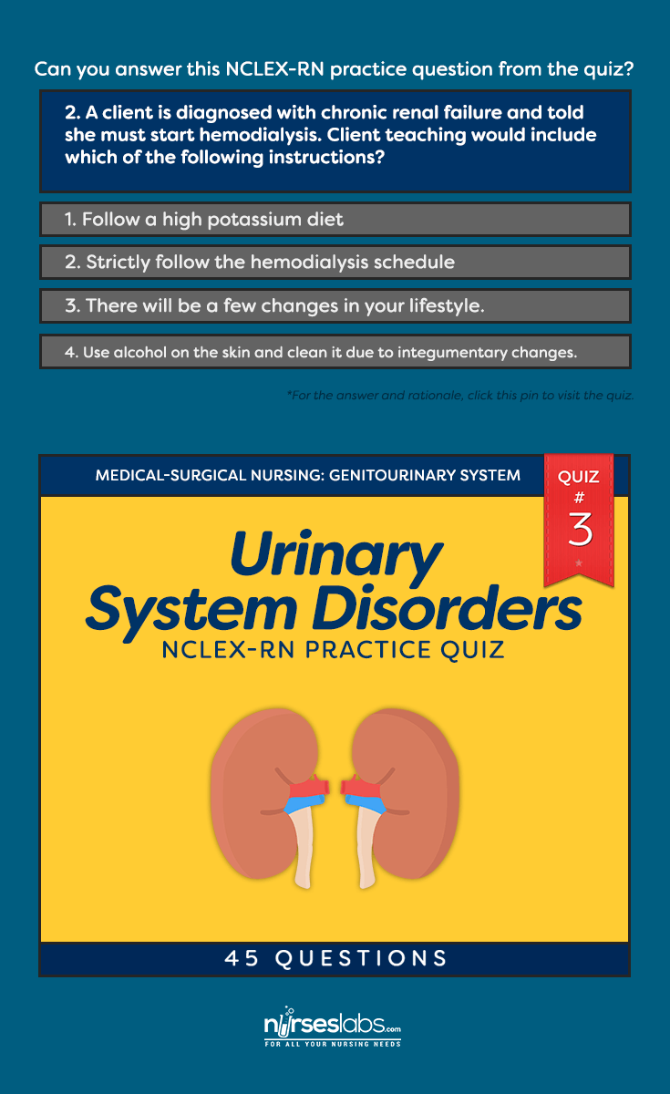 Quiz #3: Urinary System Disorders NCLEX-RN Practice Exam (45 ...