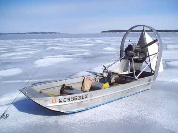 Old airboat on ice  | Airboats | Boat, Flat bottom boats