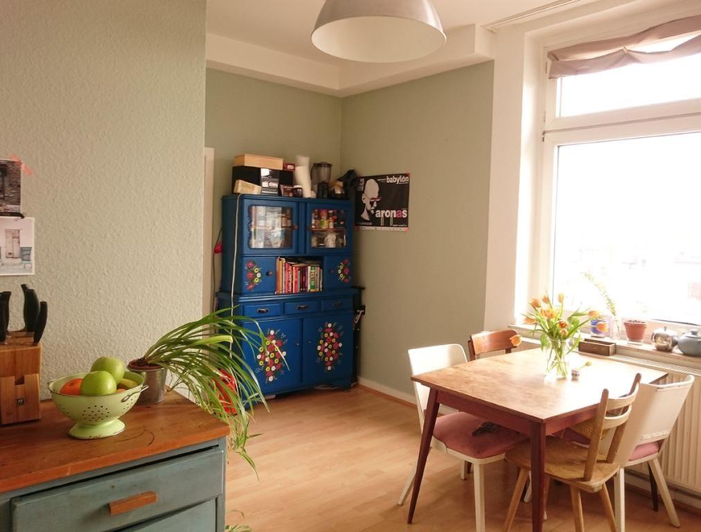 Schöner blauer Küchenschrank #Schrank #Küche #Einrichtung - küche 70er stil