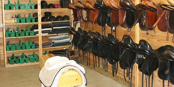 The Nancy G. Held Equestrian Center - horse barn tack room ...