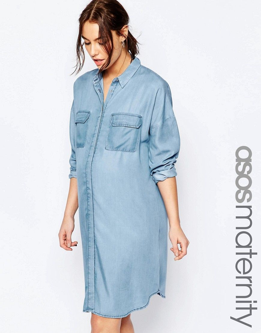 Image 1 of asos maternity oversized chuck on dress like image 1 of asos maternity oversized chuck on dress ombrellifo Image collections