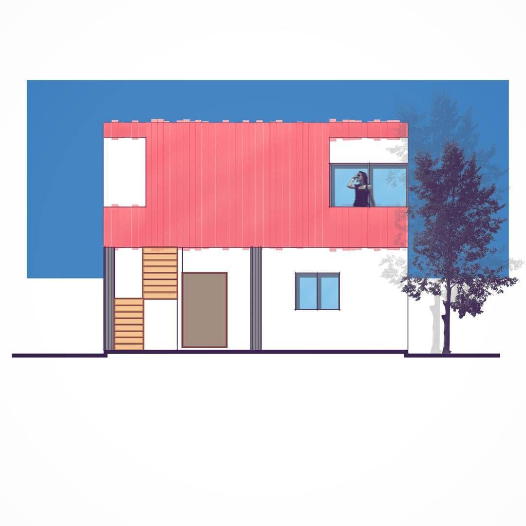 Fachada frontal - Casa el Atardecer Front facade - House sunset ...