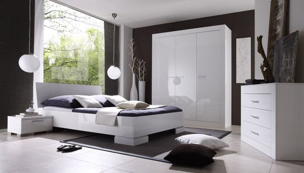 1000 images about chambre coucher on pinterest - Chambre A Coucher Blanc Laque