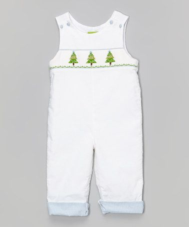 Look what I found on #zulily! White Corduroy Overalls - Infant & Toddler #zulilyfinds