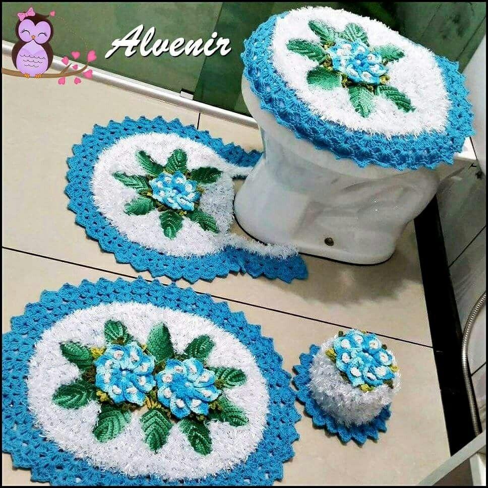 Pin de lily pedroza en crochet para ba o pinterest for Set de bano tejidos