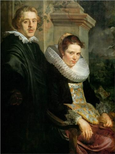 Portrait of a Young Married Couple (Jacob Jordaens). When I first saw this painting, I didn't know they were married. You can kinda guess who has all the power in this relationship, though.