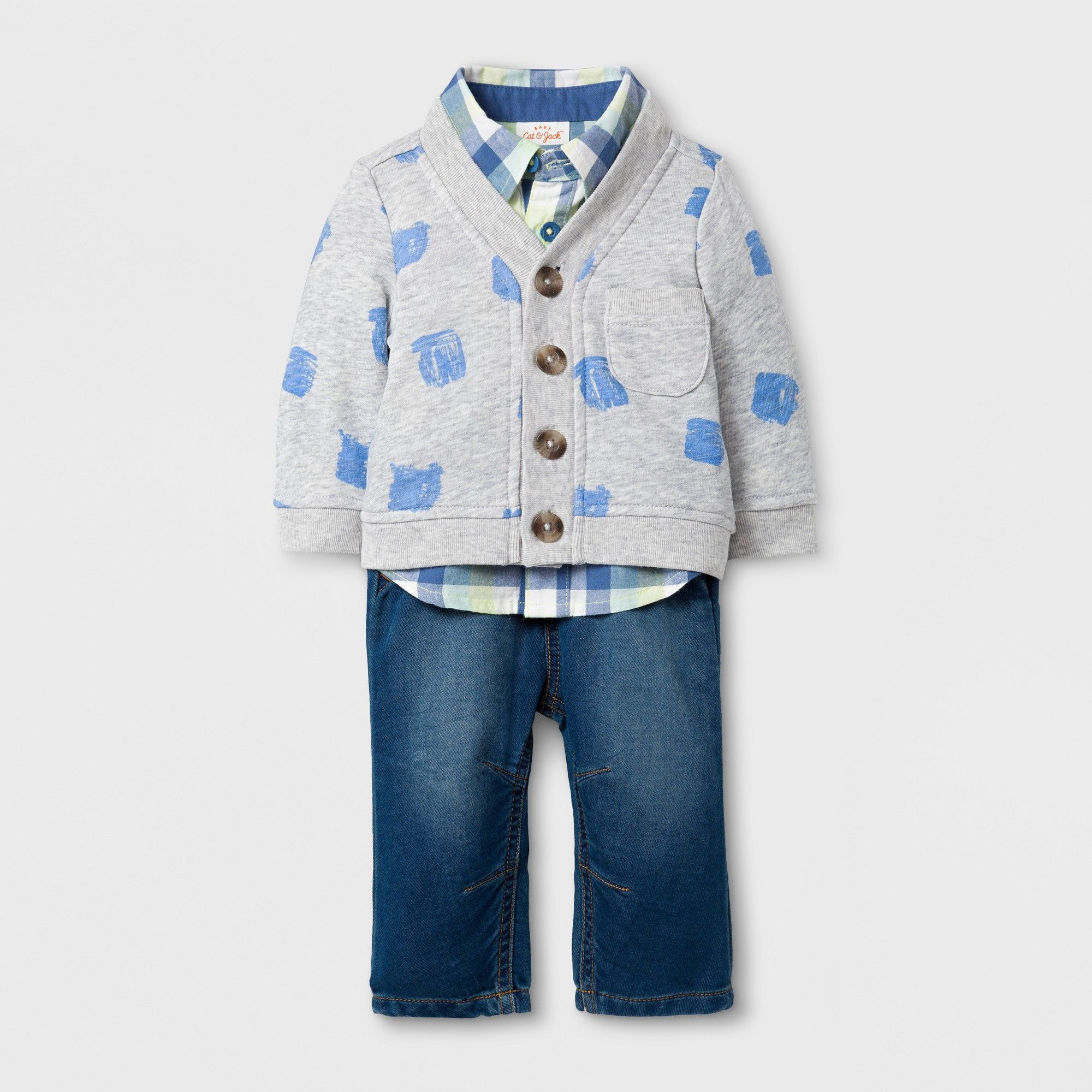 508e47527 Baby Boys  3pc Cardigan