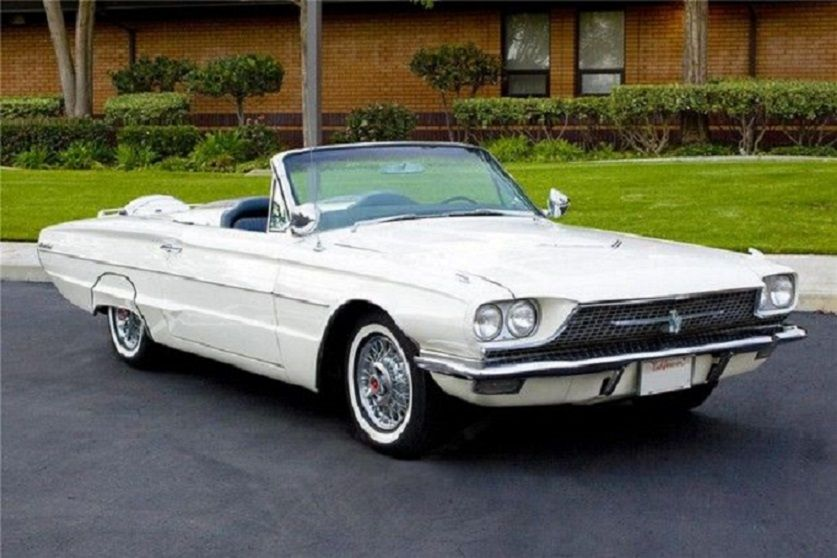 1966 Ford Thunderbird White On White Convertible Automatic With A 390 Cu In V8 Engine Ford Thunderbird Ford Classic Cars American Classic Cars